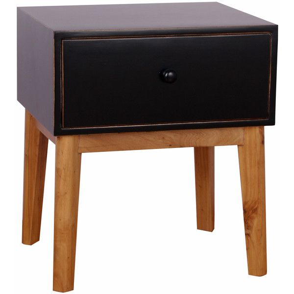 Porthos Home Mina End Table found on Polyvore featuring home, furniture, tables, accent tables, white, white wood table, rectangular side table, wood end tables, wooden table and rectangle side table