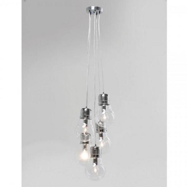 Závěsné svítidlo  Five Bulbs Clear