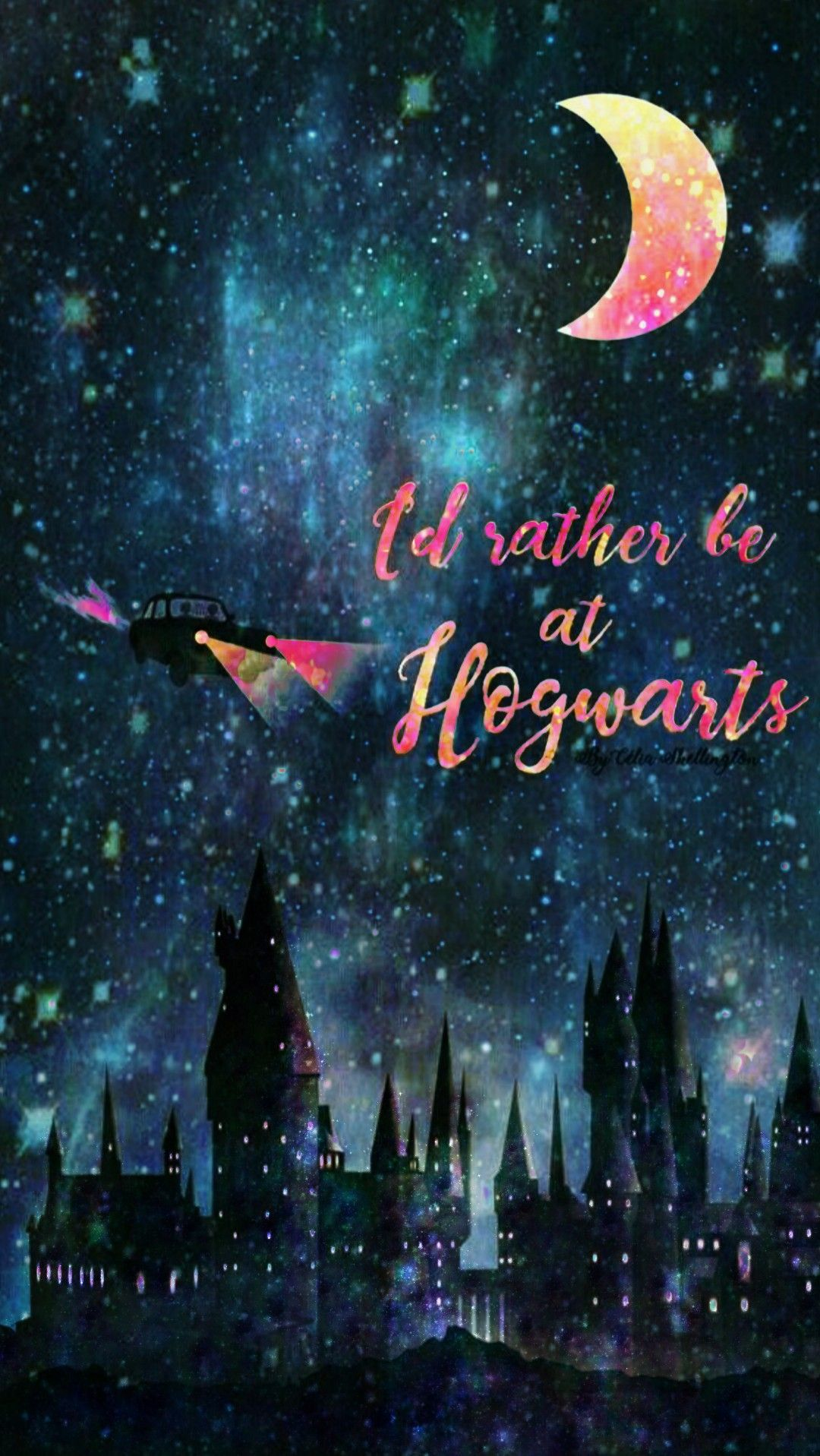 Hogwarts Night Made By Me Galaxy Glitter Sparkles Wallpapers Backgrounds Nigh Harry Potter Drawings Harry Potter Iphone Wallpaper Harry Potter Wallpaper