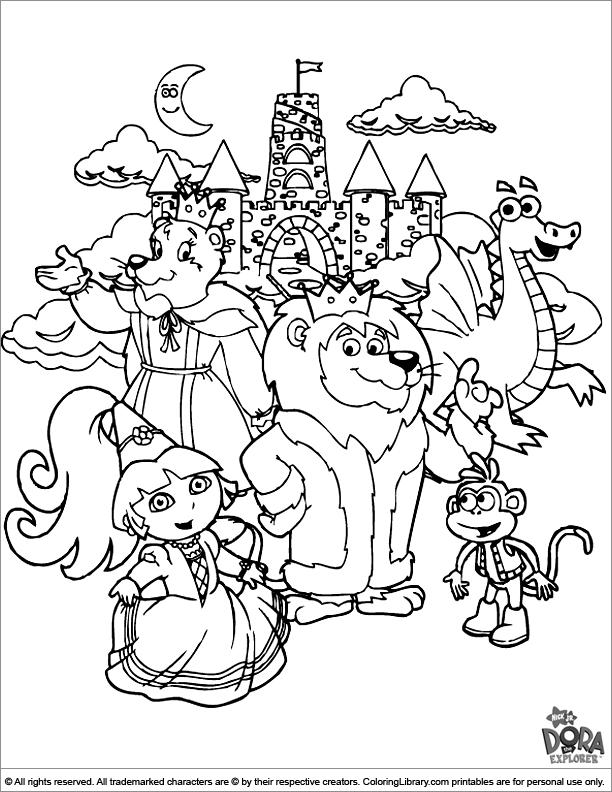 Princess Dora The Explorer Coloring