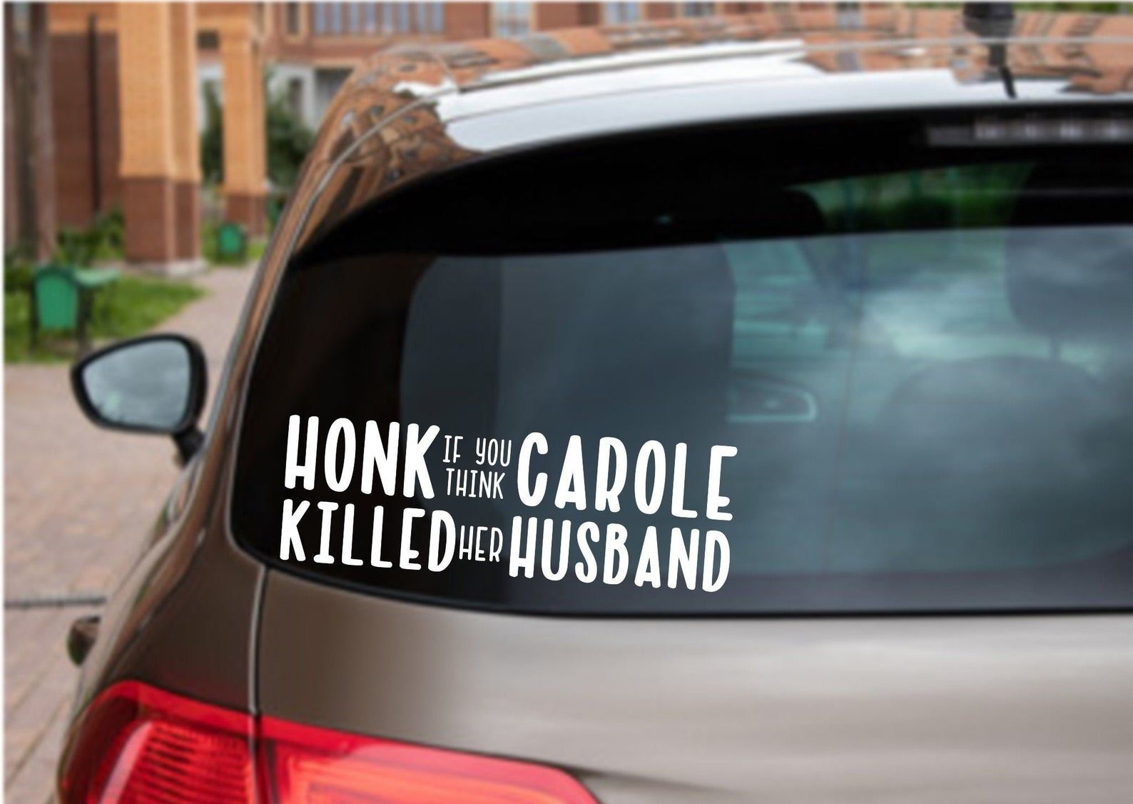 This Item Is Unavailable Etsy Funny Car Decals Car Humor Carole [ 1126 x 1588 Pixel ]