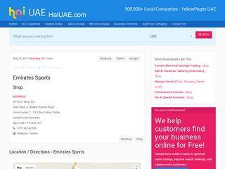 Emirates Sports Shop Wafi Mall 4 Sheikh Rashid Road G Floor Shop 321 Umm Hurair 2 315 Bur Dubai Dubai Haiua With Images Dubai Information Business Pages Emirates