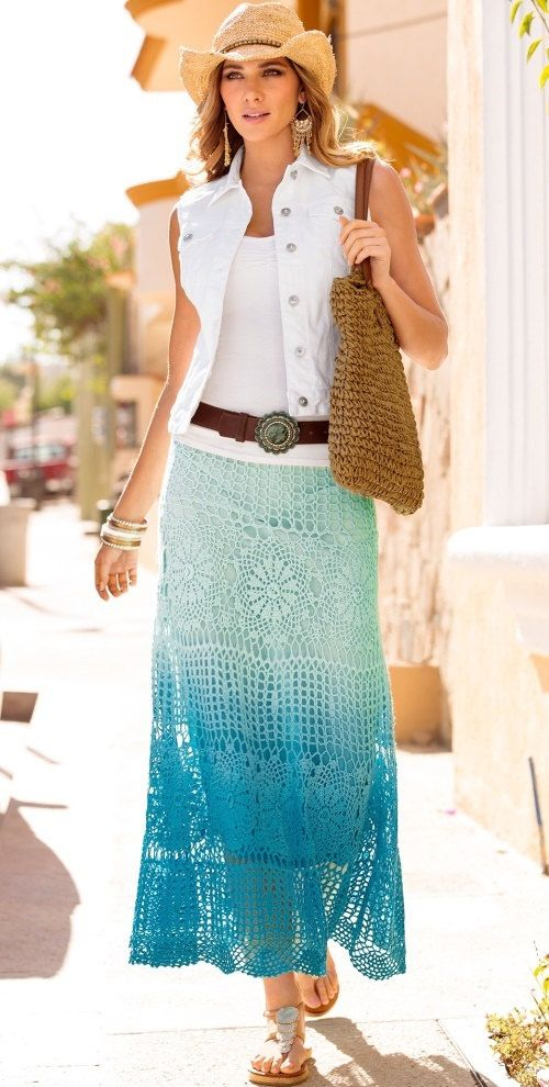 Maxi crochet skirt PATTERN (sizes S-2XL), crochet TUTORIAL in ...