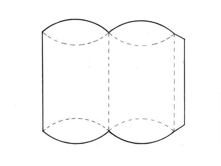 Pillow Box Basteln gutschein basteln pillow box vorlage ausdrucken gifts ideas