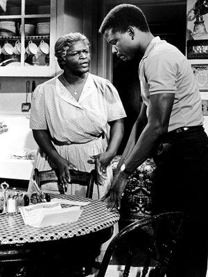 "Lena Younger (Claudia McNeil): ""Oh God, please, look down and give me strength!"" -- from A Raisin in the Sun (1961) directed by Daniel Petrie"