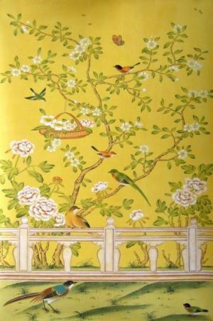 Chinoiserie Fabrics And Wallpaper Hand Painted CHINOISERIE