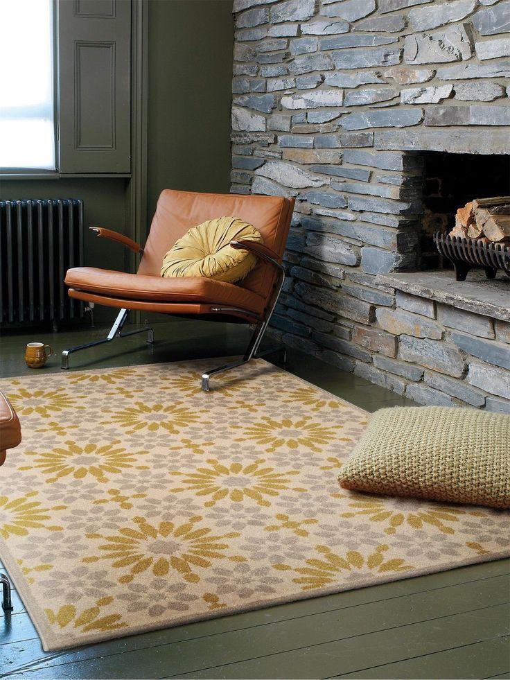 Benuta Teppich Gazania Gelb 60002856 Floral Esszimmer, Flur / Diele,  Schlafzimm In Möbel U0026