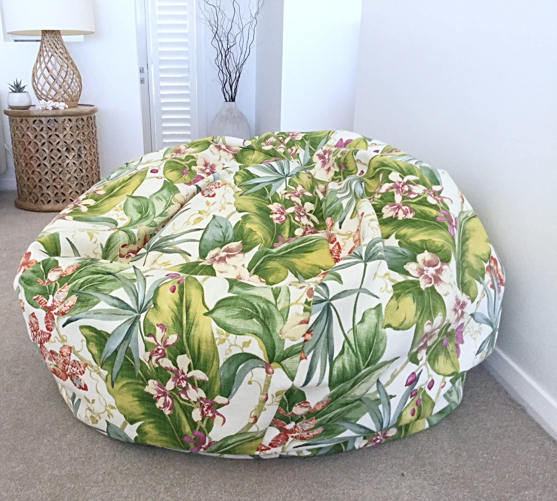 Outdoor Bean Bag Beanbag Cover Only Paradise Point Etsy Large Floor Cushions Outdoor Bean Bag Floor Cushions