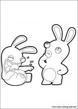 Raving Rabbids Coloring Pages On Coloring Book Info Coloriage
