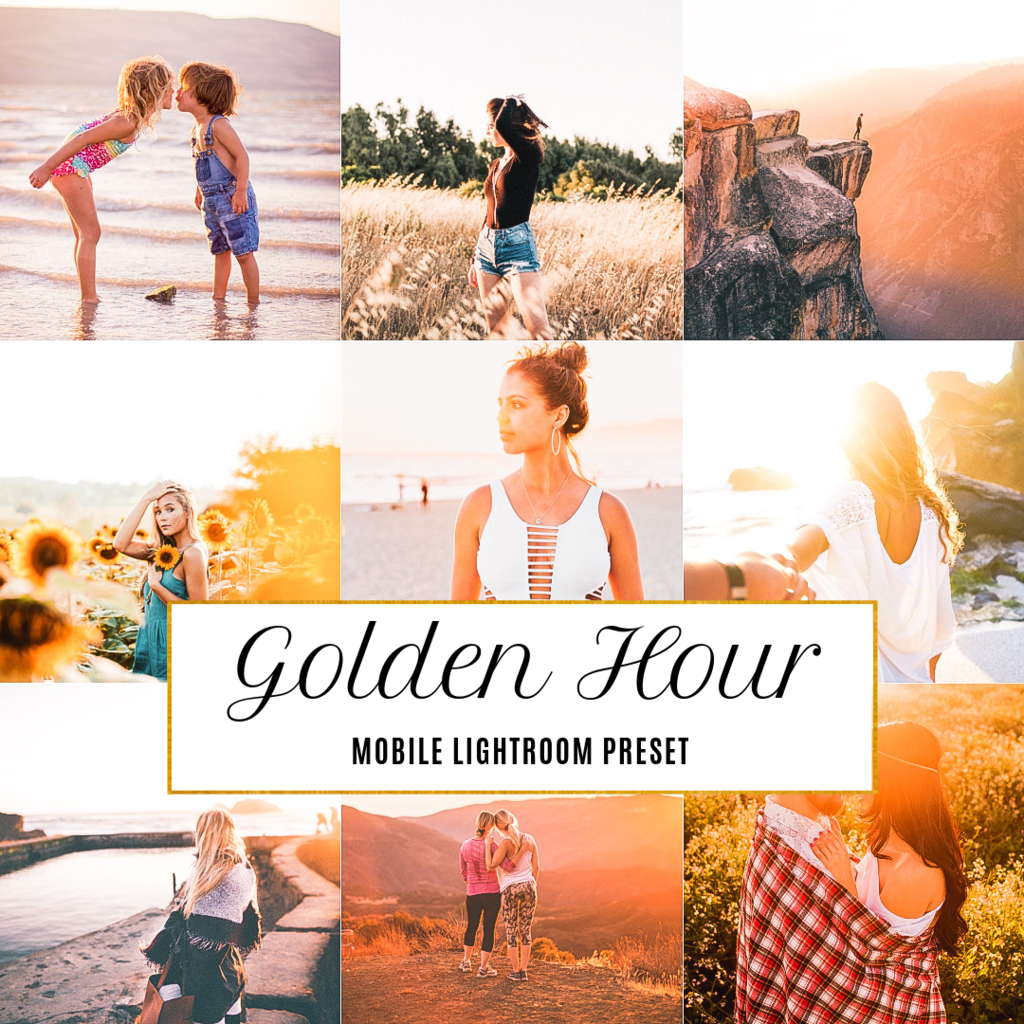 Golden Hour Mobile Lightroom Preset | Lightroom presets