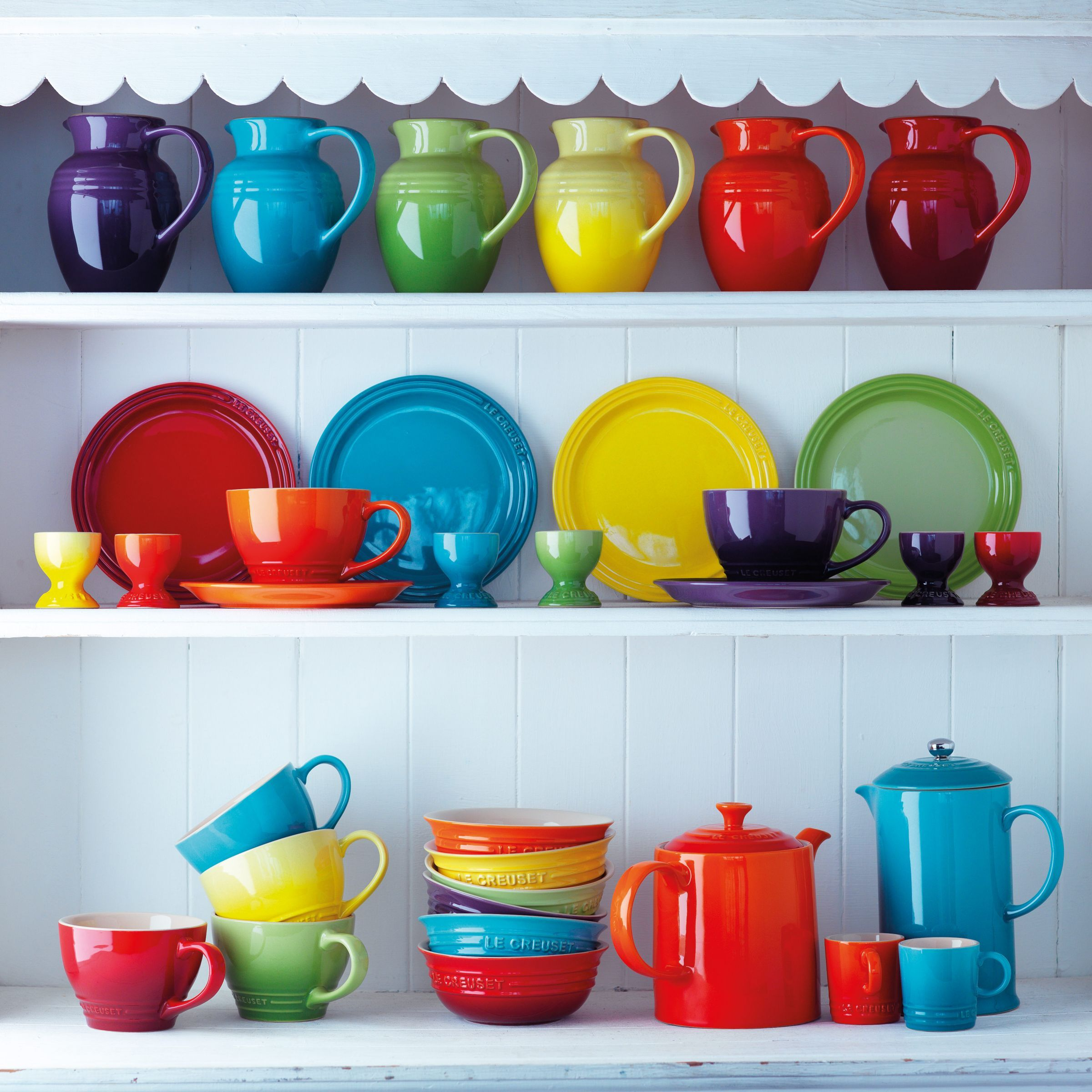 Le Creuset Stoneware Rainbow Espresso Mugs Set Of 6 100ml Le Creuset Kitchen Rainbow Kitchen Le Creuset Cookware