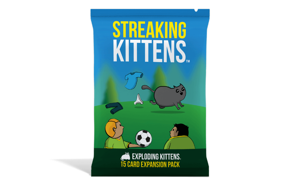 Streaking Kittens An Expansion Of Exploding Kittens Jackanope Exploding Kittens Card Game Exploding Kittens Happy Families Card Game
