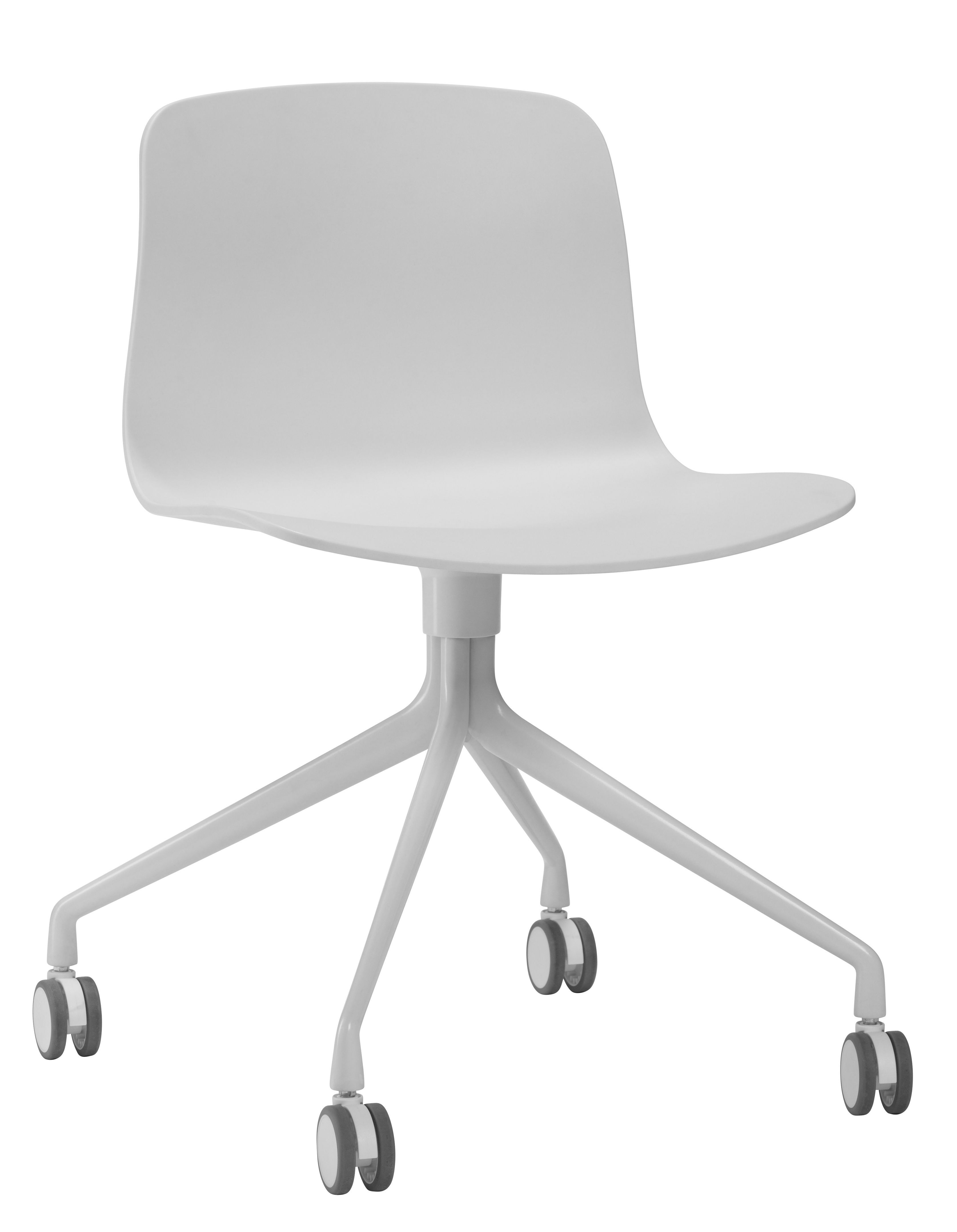 Chaise A Roulettes About A Chair Aac14 Hay Blanc Made In Design Fauteuil Bureau Design Fauteuil Bureau Chaise