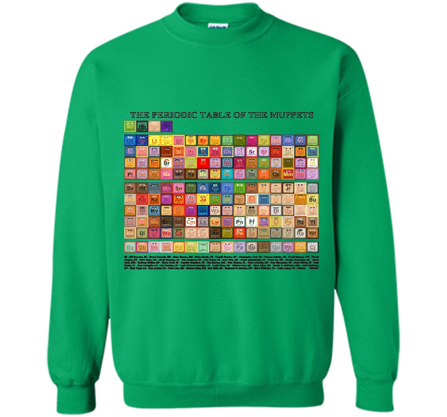 Periodic table of the muppets tshirt products pinterest periodic table of the muppets tshirt gamestrikefo Image collections