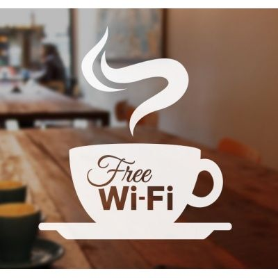 Image Result For Free Wifi Sticker Sticker Sign Coffee Shop