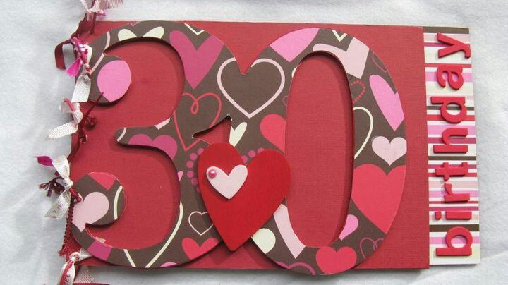 30th Birthday Guest Book handcrafted by Incy Wincy Designs