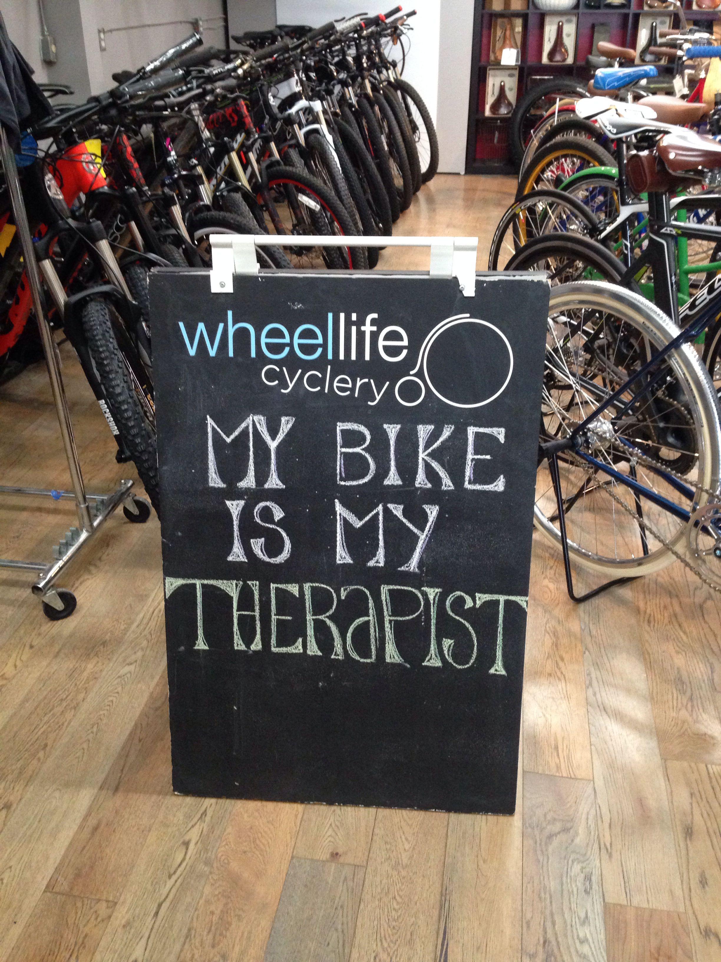 Bike Shop Chalkboard My Bike Is My Therapist Bike Quotes Bike