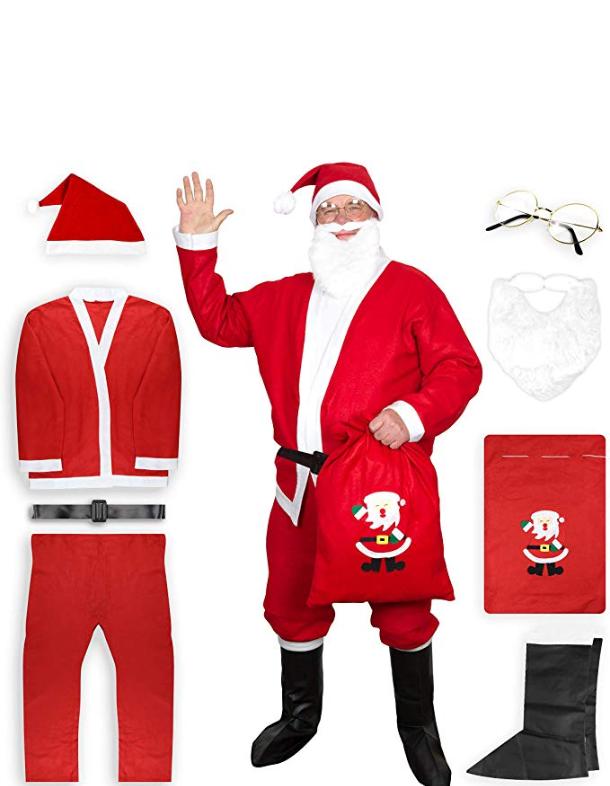 Pin On Christmas Tree Santa Clause Dress