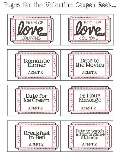 Love coupons ♡~Happy Valentineu0027s Day~♡ Married Life - printable vouchers