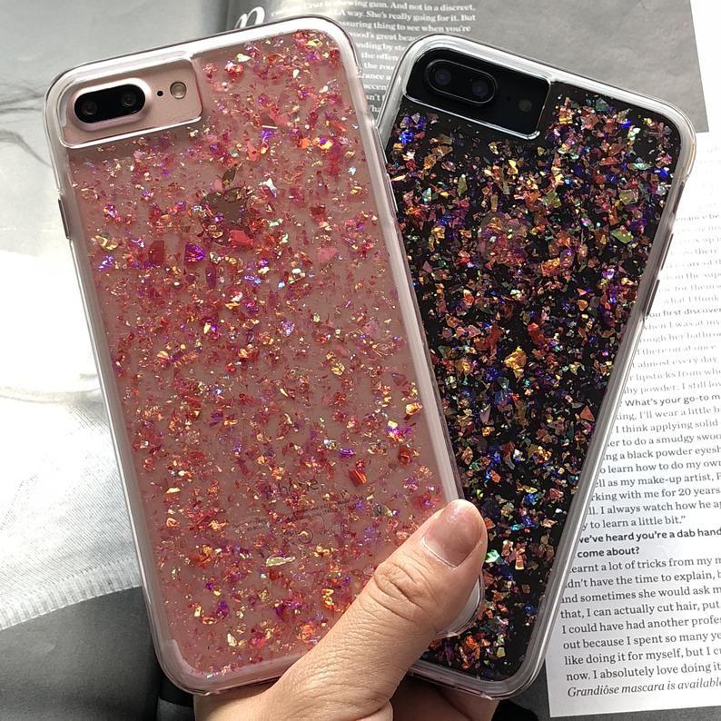 Iphone 8 Plus Gold Glitter Case