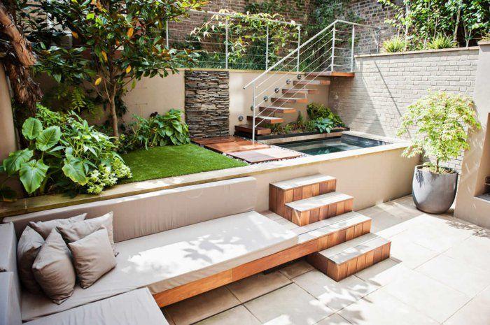 Gartengestaltung ideen treppen bereiche absondern