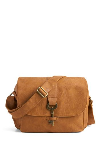 Keystone State Bag - Tan, Solid, Casual, Buckles, Boho, Faux Leather, Fall, Top Rated