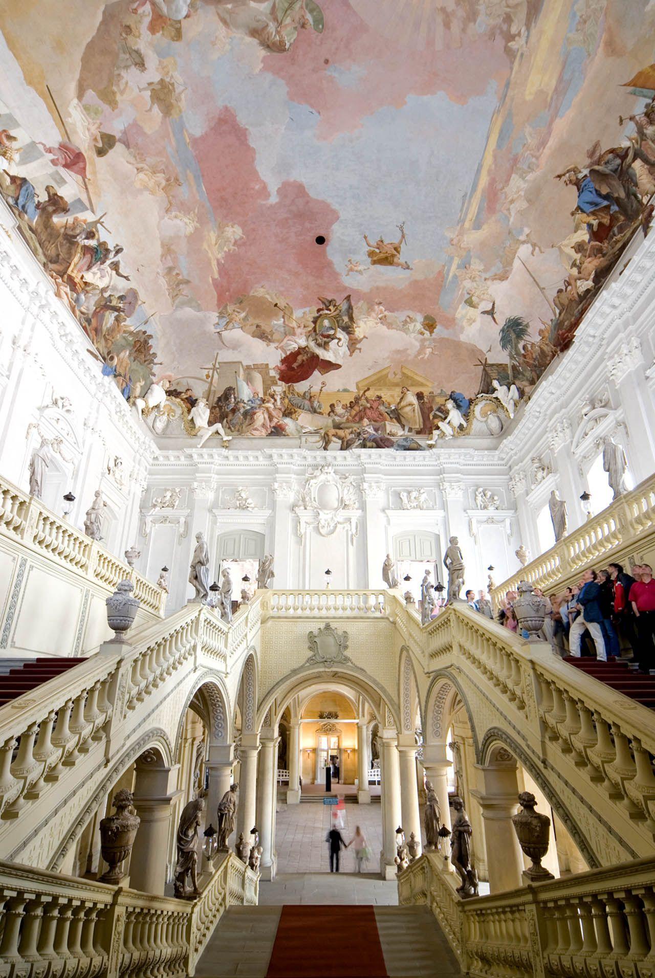 Ceiling Fresco By Tiepolo In The Residenz Palace C Dzt Bayerische Verwaltung Der Staatlichen Schlosser Garten Und Seen Ernst W Wurzburg Travel Germany Palaces
