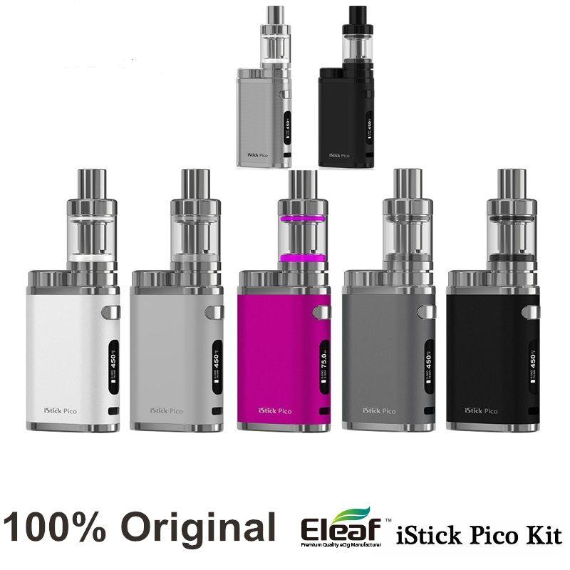 100% 원래 eleaf istick 피코 키트 elektronik sigara 2 미리리터 멜로 3 분무기 75 와트 펌웨어 업그레이드 모드 istick 피코 키트 vape