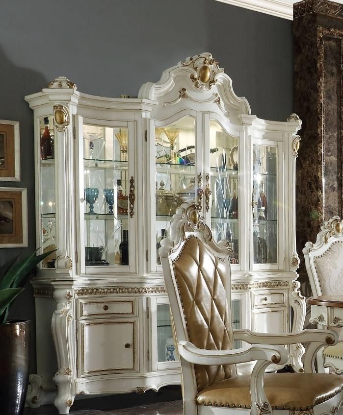 Acme Furniture Picardy China Cabinet (With Images