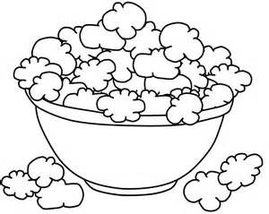 Printable Popcorn Coloring Pages Sketch Template