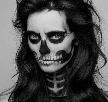 Halloween Skeleton Makeup