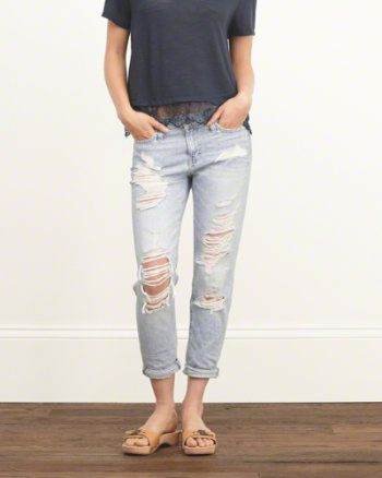 Black ripped skinny jeans abercrombie