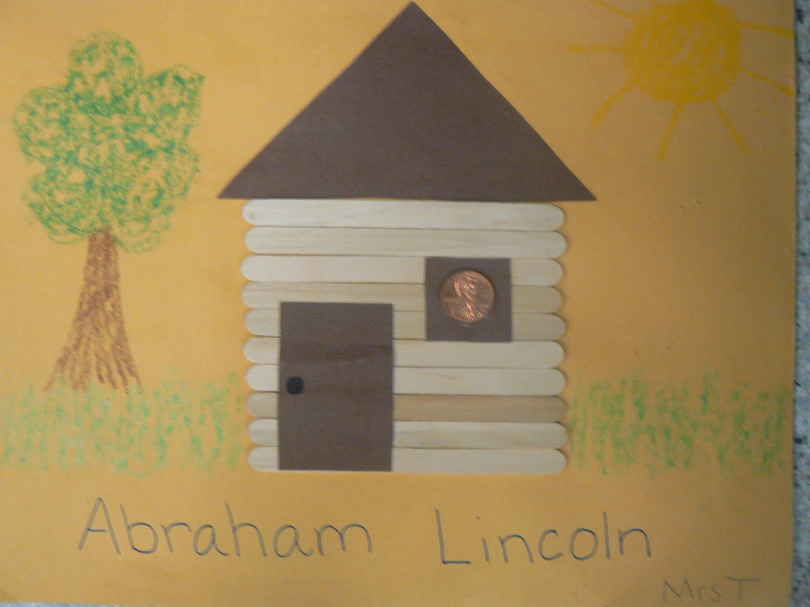 Mrs T S First Grade Class Abraham Lincoln