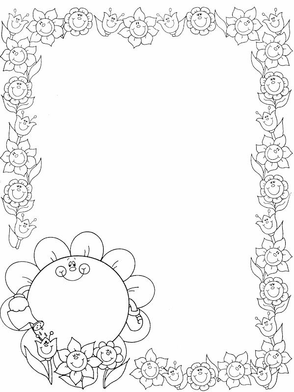 Imagenes bordes de flores para colorear - Imagui | PRIMAVERA Y ...