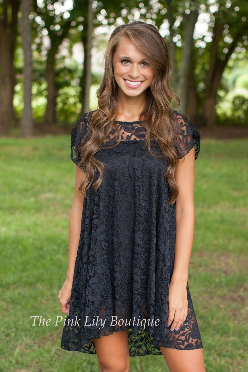 The Pink Lily Boutique - Lavish In Lace Black Dress , $38.00 (http://thepinklilyboutique.com/lavish-in-lace-black-dress/)