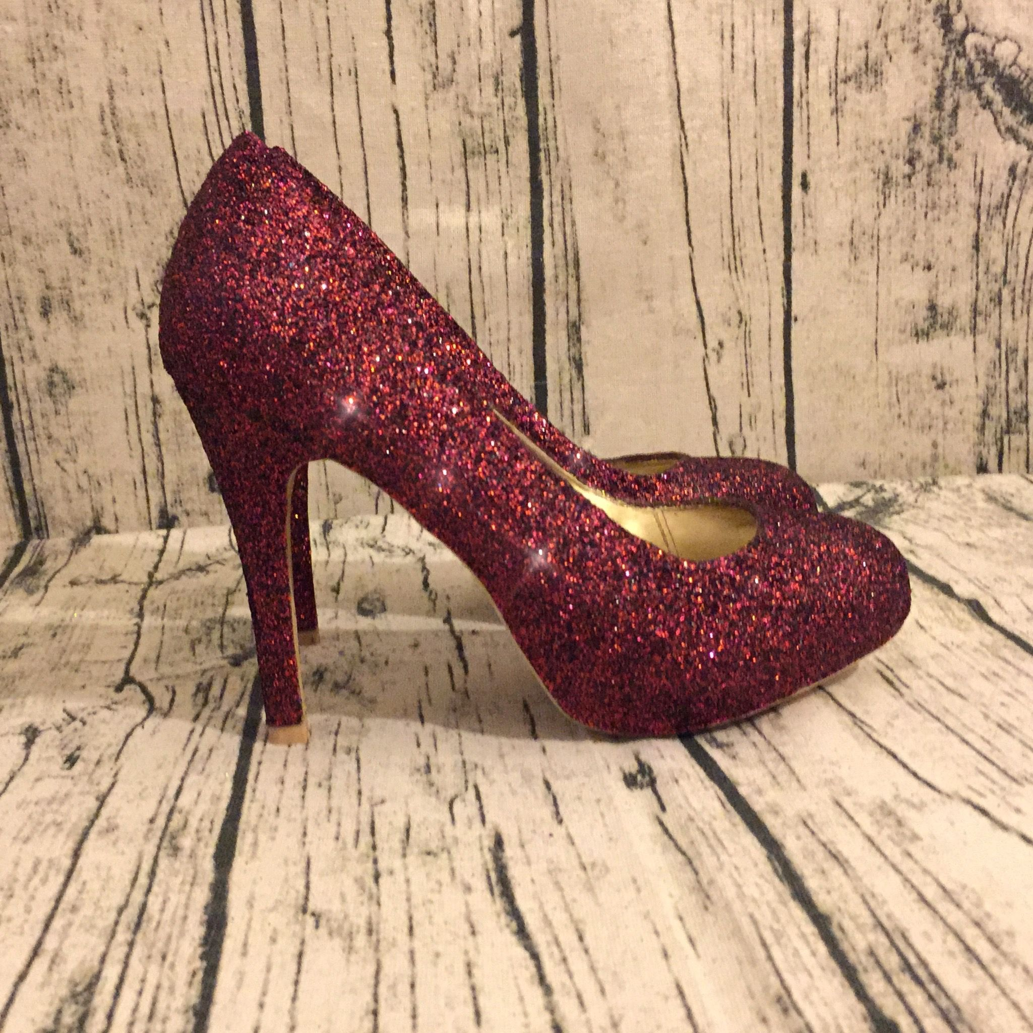 Sparkly Burgundy Glitter Heels Take 10 Off With Code Glam10