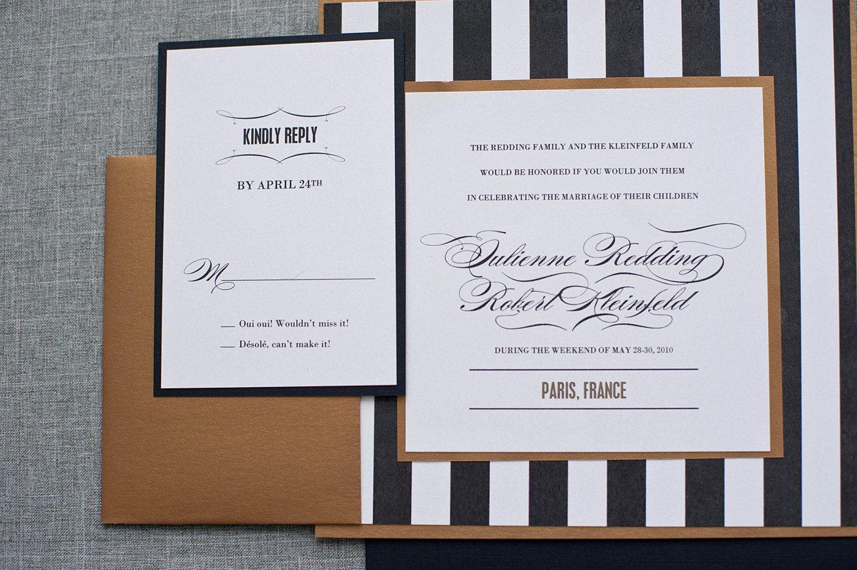 Roaring 20s Wedding Invitations | Roaring 20s black gold and white ...
