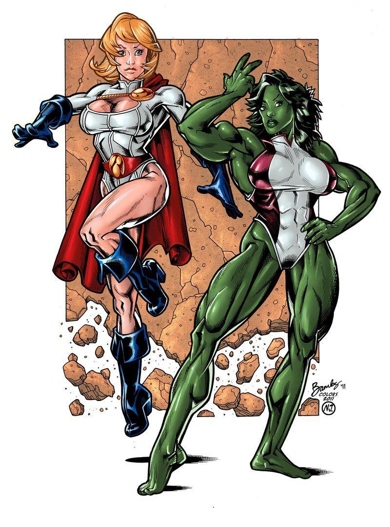power girl hulk She