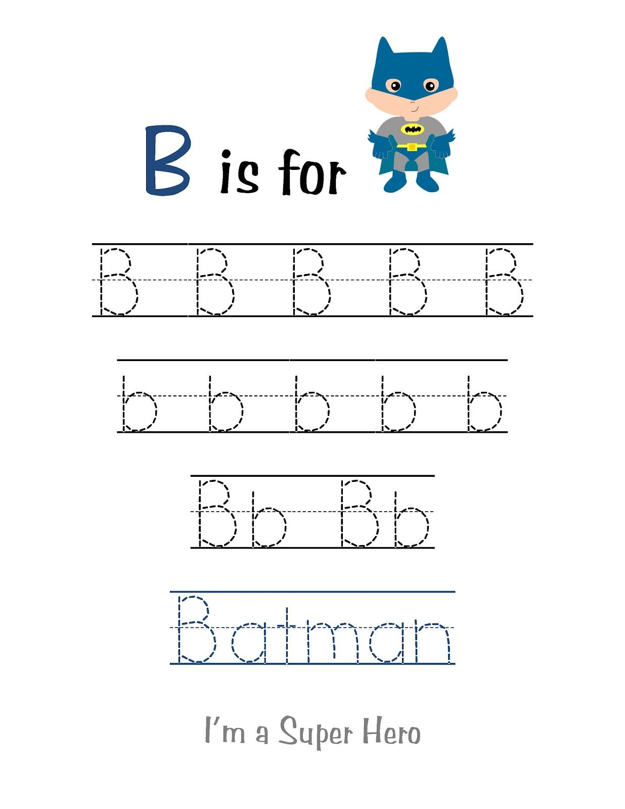 Preschool Printables Super Hero