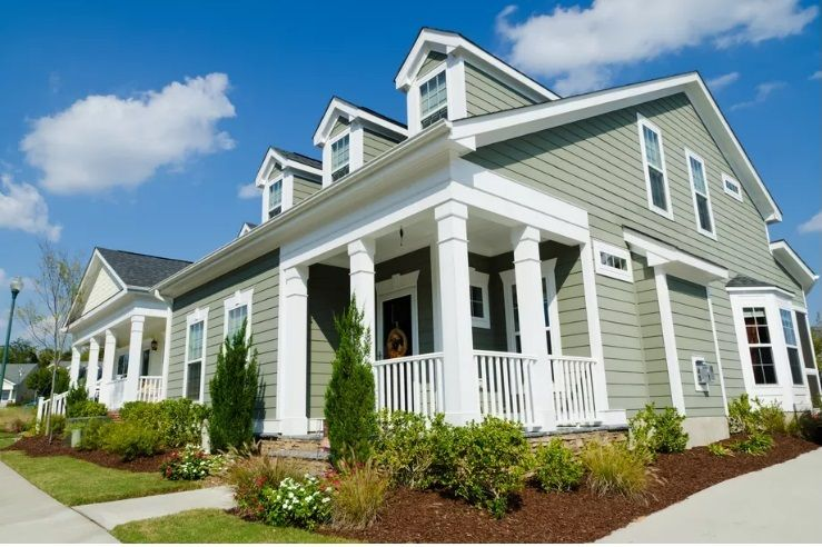 Need Money For A Down Payment On A House There S An App For That Green House Exterior Cheap Houses Cottage Style Homes