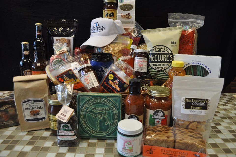 Great Lakes Marketplace in Holly...HUGE Gift Basket overflowing with Made in Michigan goodness!