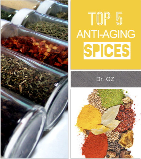 Dr. Oz's top 5 #anti_aging_spices !!