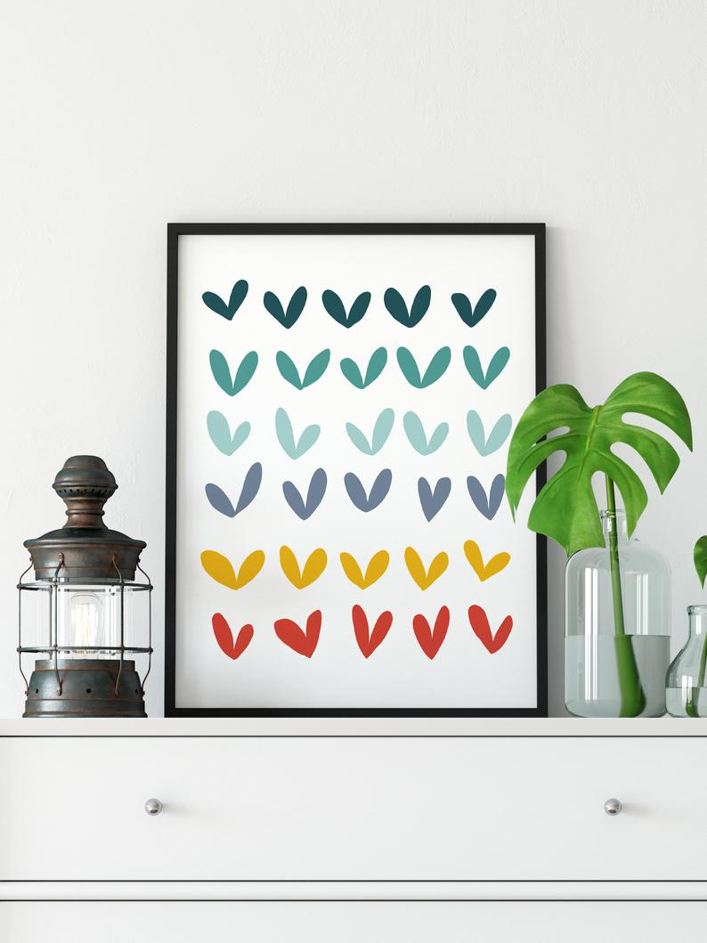 Nursery Room Nordic Art Print Colorful Kids Room Wall Art Etsy In 2021 Art Wall Kids Nordic Art Print Etsy Wall Art