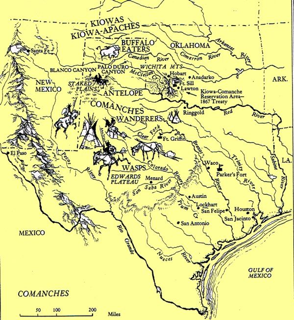 comanche indians of texas comanche indians map once many indian tribes called