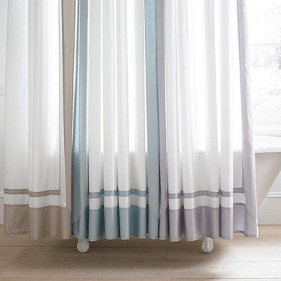 Wamsutta Hotel Shower Curtain In Grey Bedbathandbeyond Com