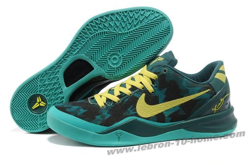 Nike Zoom Kobe 8 (VIII) Basketball Shoes Dark Green Yellow Style 555035 022  Outlet