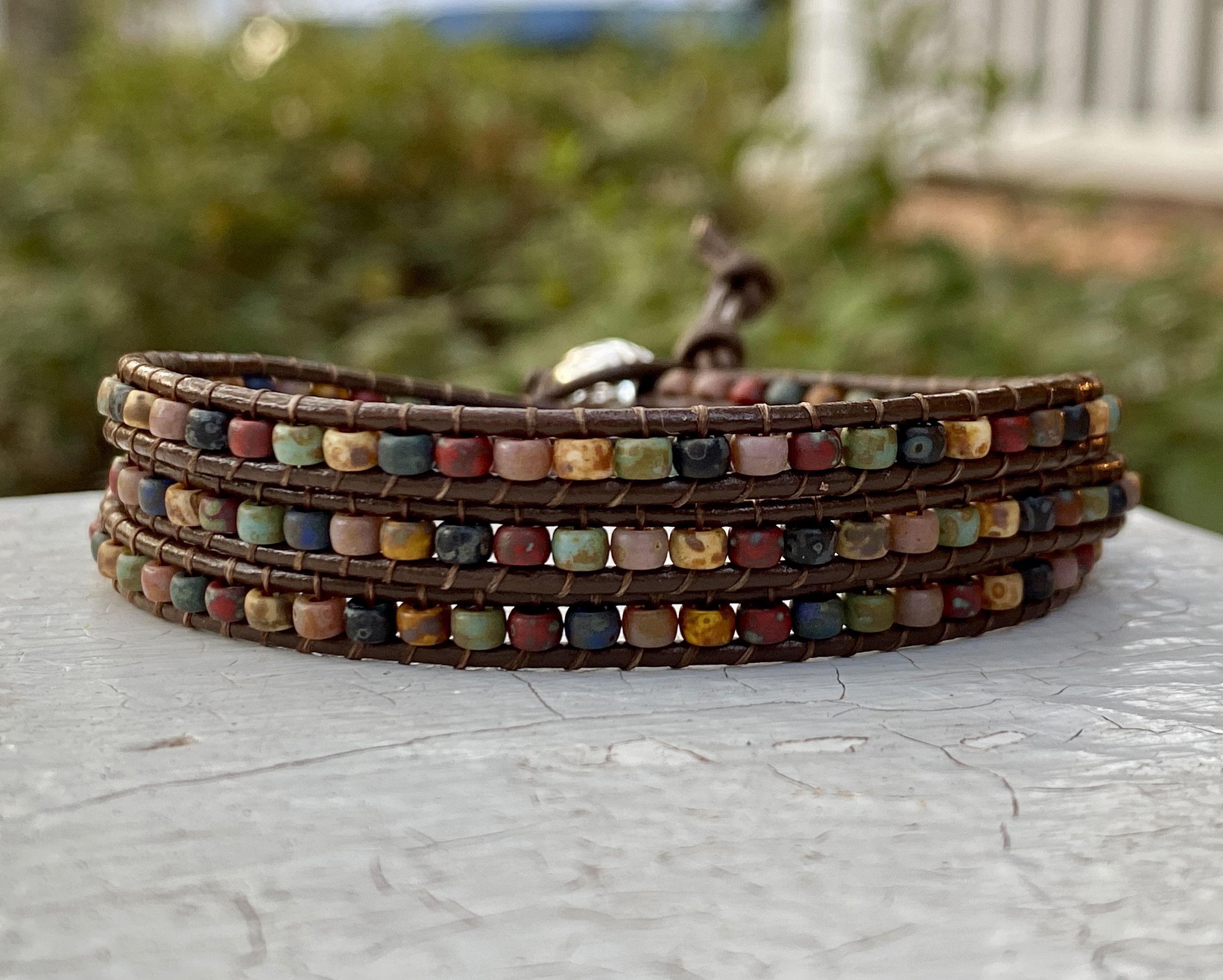 how to make beaded bracelets with string