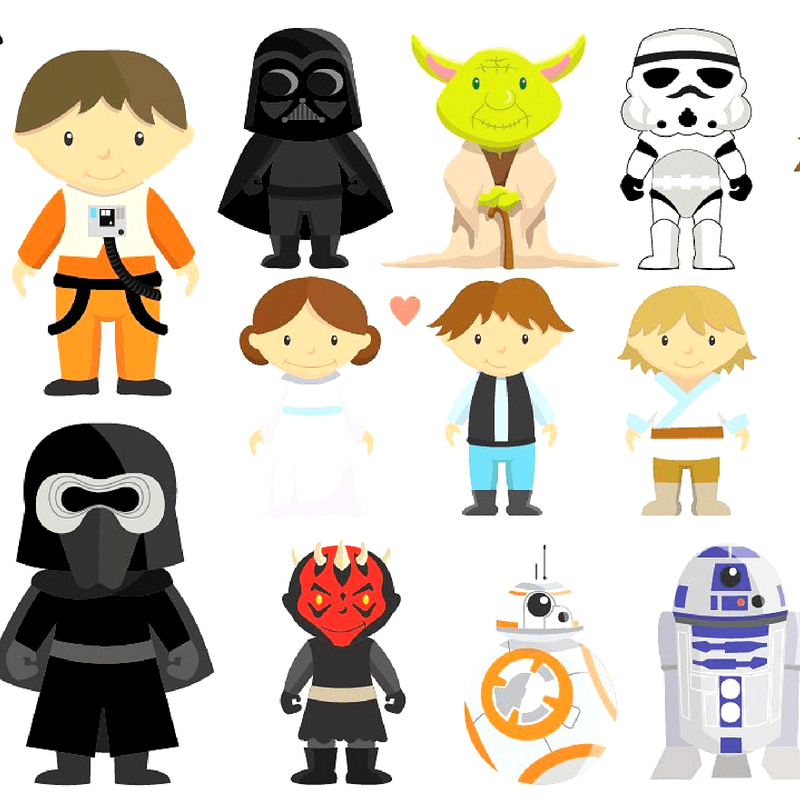 Star Wars Characters Clipart Sets Star Wars Gifts 2020 Star Wars Characters Clipart Star Wars Gifts Star Wars Wallpaper