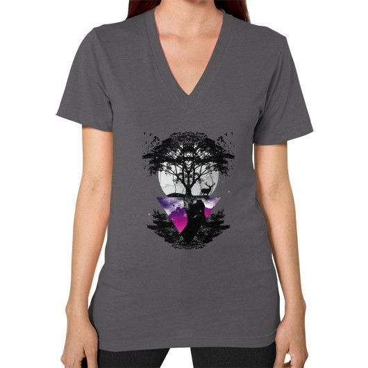 Cosmic Nature V-Neck (on woman)