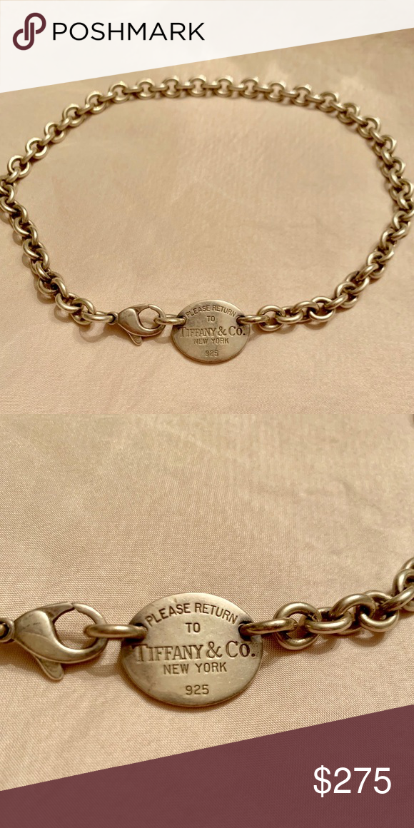 103b74106 Authentic Tiffany & Co. necklace Iconic Return to Tiffany choker necklace, sterling  silver.